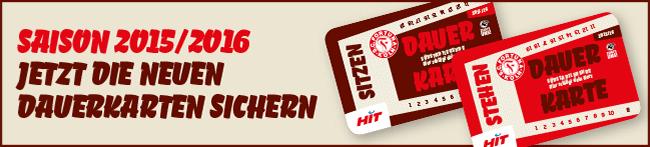 Dauerkarten 2015/2016 kaufen